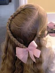 Resultado de imagen para peinados de niña para fiesta