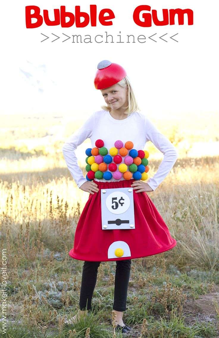 Gumball Machine Costume…a very Low-Sew project!
