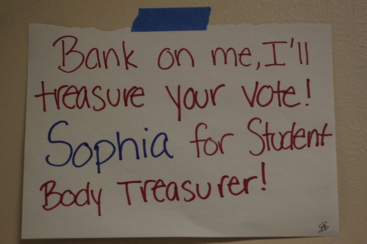student council treasurer posters - Google Search ...