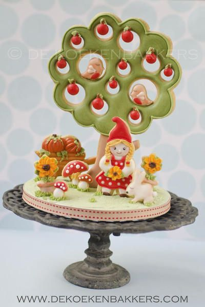Under the apple tree cookie cake topper