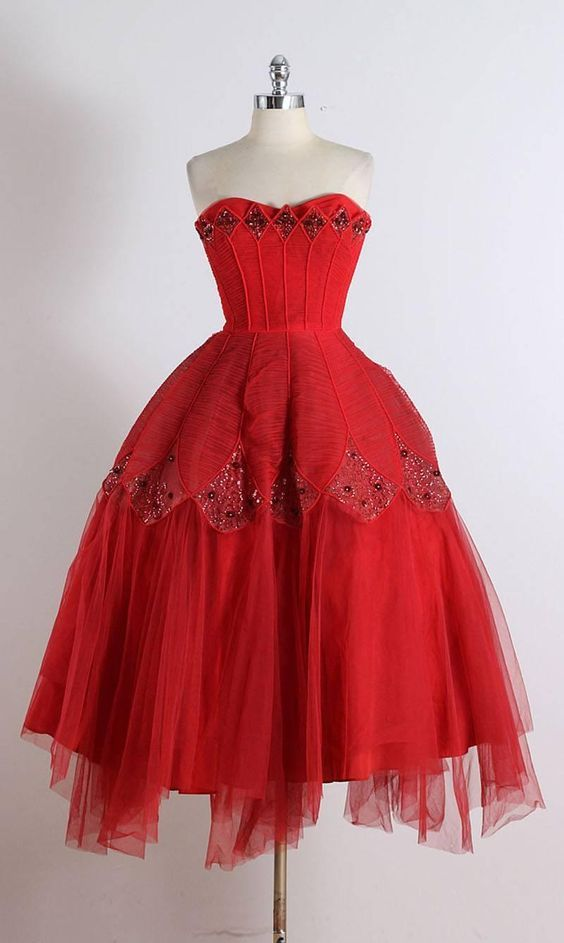 1950's Ceil Chapman Strapless Dress