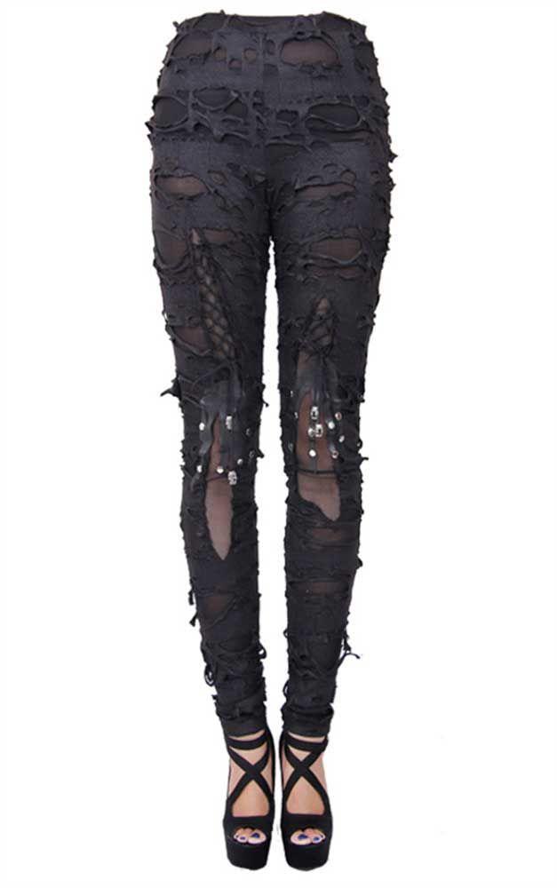 "DEVIL FASHION ""Gothalyptic Radella"" leggings - size L"