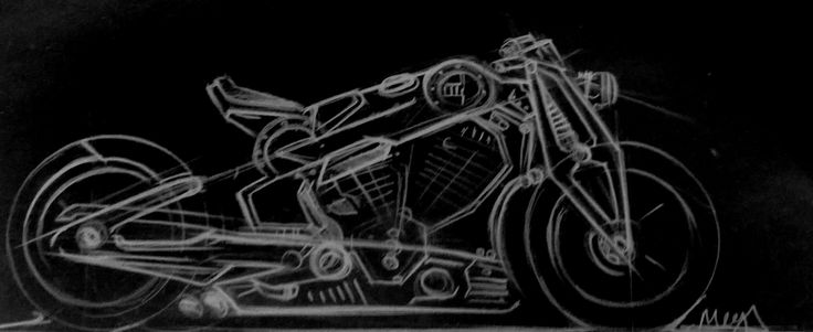confederate motorcycle G2 P51 Combat Fighter sketch