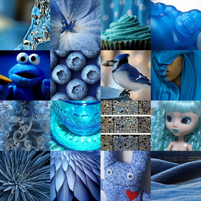 Throat Chakra, Colour Therapy (Blue Collage)