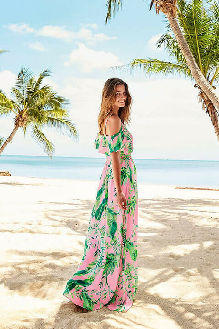 Lilly Pulitzer Luxury Resort Wear Beachy Outfits Tropical Dresses Beach Wedding Beach Vacation F Palm Print Dress Lilly Pulitzer Maxi Dress Beachy Outfits [ 1102 x 735 Pixel ]