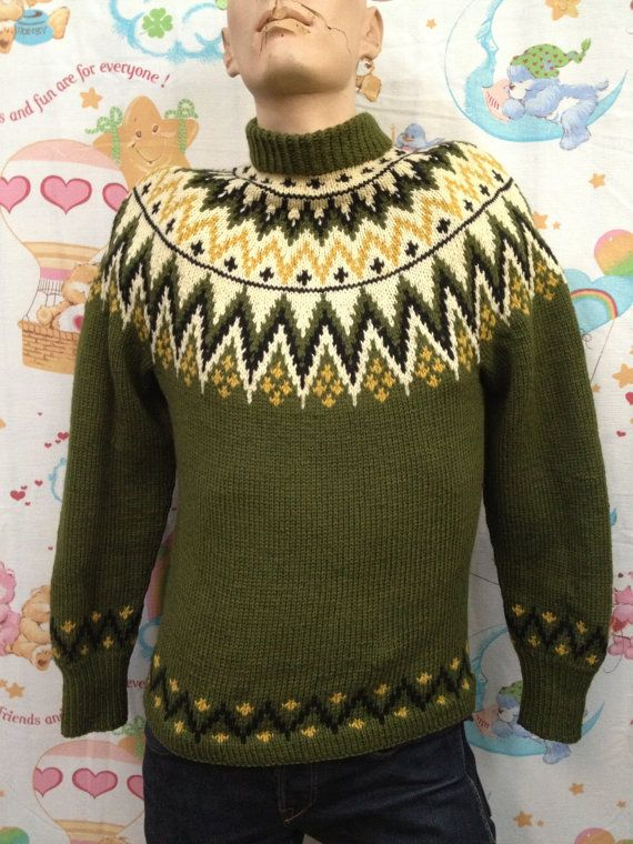 vintage Nordic sweater by Lulle Otterstad of Oslo,