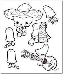 free dia de los muertos printables free | ... , armar y colorear muñecos articulados para el día de los muertos