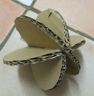 slotted cardboard ball