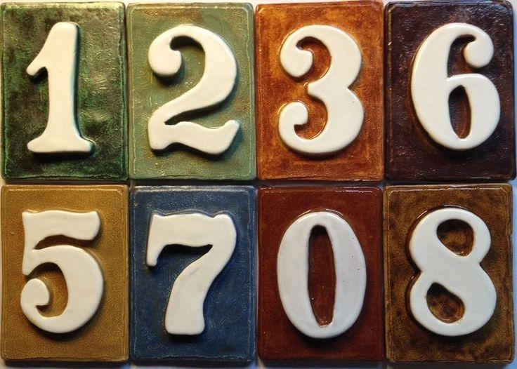 Tile House Address Mailbox Post Numbers Handmade