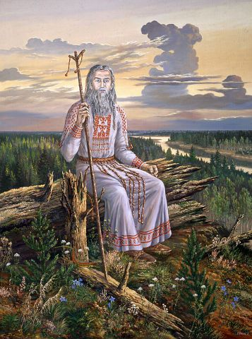 "Paintings of Vsevolod Ivanov Hyperborea. painting ""Supreme Magus"""