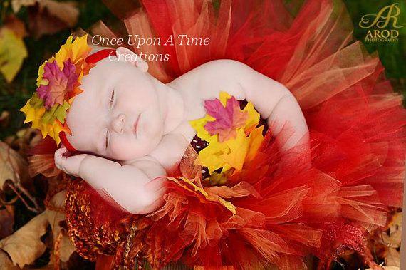 Autumn Fairy Tutu Dress - Infant Baby Girl Photo Prop, Dress Up, Halloween Costume, Shower Gift, Girls Size Newborn 3 6 9 12 18 24 Months