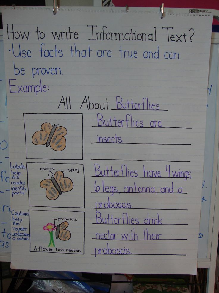 First Grade Informational Writing Unit: Week #1