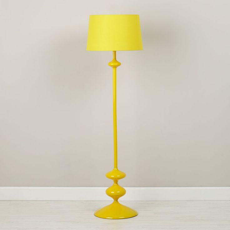 Shop Checkmate Floor Lamp Base (Yellow).  This metal floor lamp base resembles the shape of a classic chess piece.  Thanks to the clean, simple design, it's the perfect winning piece for any room in your home.  Shade sold separately.