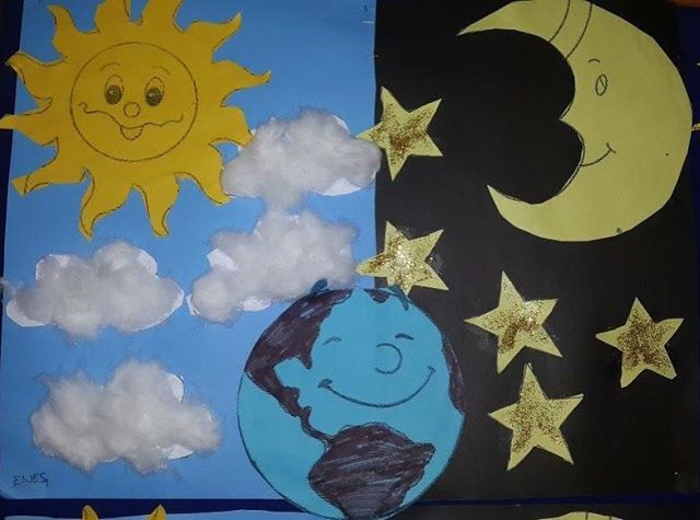 Day And Night Bulletin Board Idea For Kids