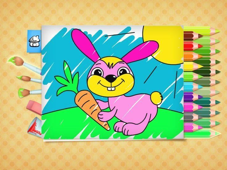 Free Easter Coloring Pages Game For Kids App On Iphone Ipad Android Easter Bunny Easter Gameapp Gameappa In 2020 Coloring Books Free Easter Coloring Pages Kids App