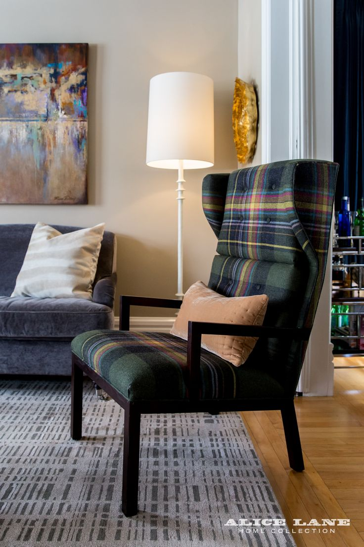 This Living Room Staying True To Its History Plaid Chair Inside 100 Old