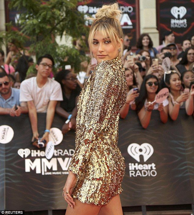 Hailey Baldwin puts on a leggy display at 2016 iHeartRadio Much Music Video…