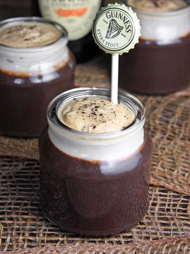 St. Patrick's Day is the perfect holiday to combine dry stouts, like Irish favorite Guinness, with dessert. This stout-infused chocolate pudding and topping is the ideal party closer that will leave guests asking for more -->  http://hg.tv/sp3mFood Gift, Holiday Food, Stout Puddings, Pudding Recipes, Puddings Recipe, Chocolates Stout, Favorite St, Recipe Book, Beer Recipe