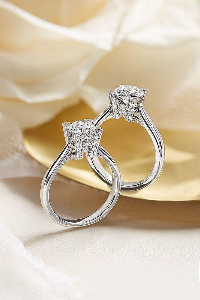 18 Gorgeous Harry Winston Engagement Rings ❤ harry winston engagement rings solitaire round cut white gold diamond ❤ More on the blog: https://ohsoperfectproposal.com/harry-winston-engagement-rings/