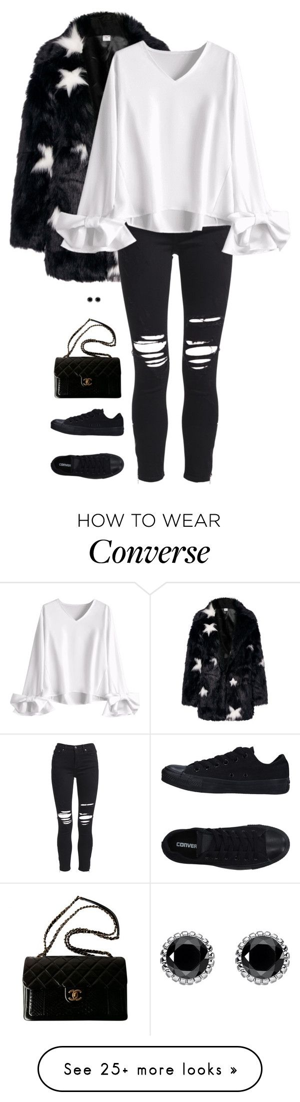 """Untitled #9175"" by miki006 on Polyvore featuring AMIRI, Chanel, Converse and Thomas Sabo"