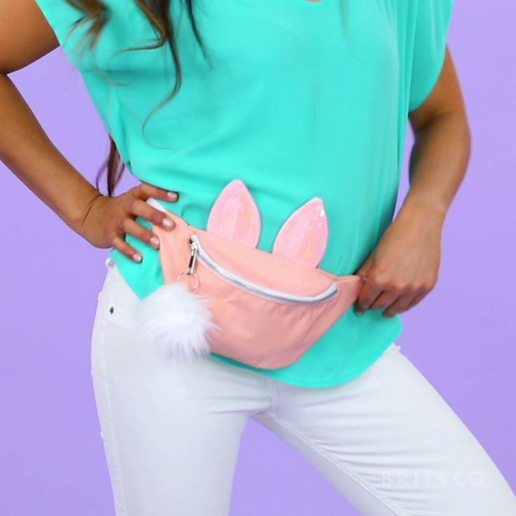 You can make a bunny fanny pack by following this easy + creative video style DIY tutorial.