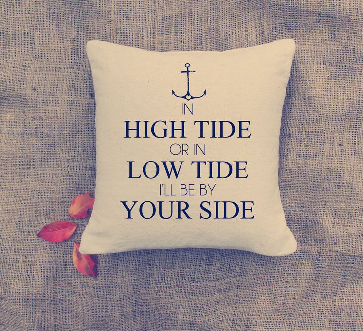 Anchor pillow from Etsy store #VintageAffairStudio
