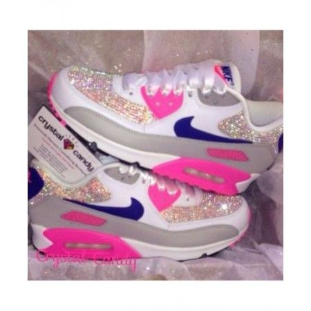 grossiste c048f 279ad Chaussures De Sport Nike Air Max 90 Candy Crystal Rose Gris ...