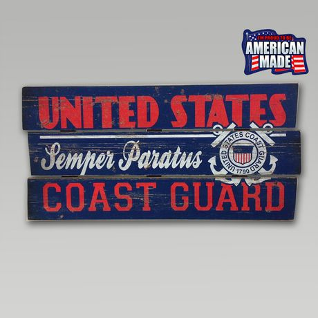 Coast Guard Plank Wood Sign