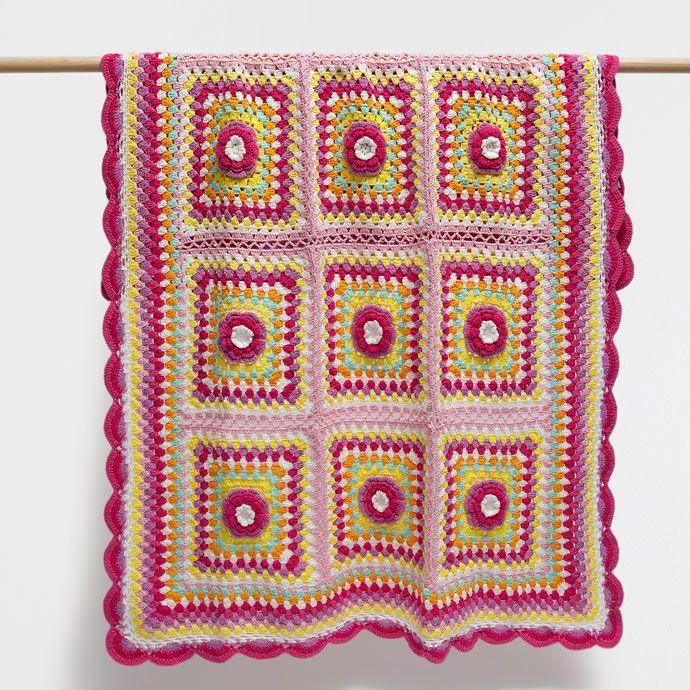 Çok renkli kroşe pamuklu battaniye - Battaniyeler - Yatak Odası   Zara Home Turquia