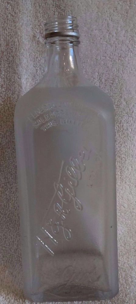 Vintage H Amp A Gilbey Ltd Quot Frosted Quot 9 Quot Gin Collectible