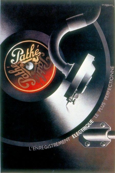 A.M. Cassandre, poster for Pathé Records, 1932 #design