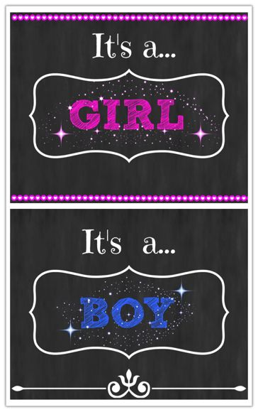 Free gender reveal printable announcement! Just sign up for our blog! #blogger # …  – Pregnancy