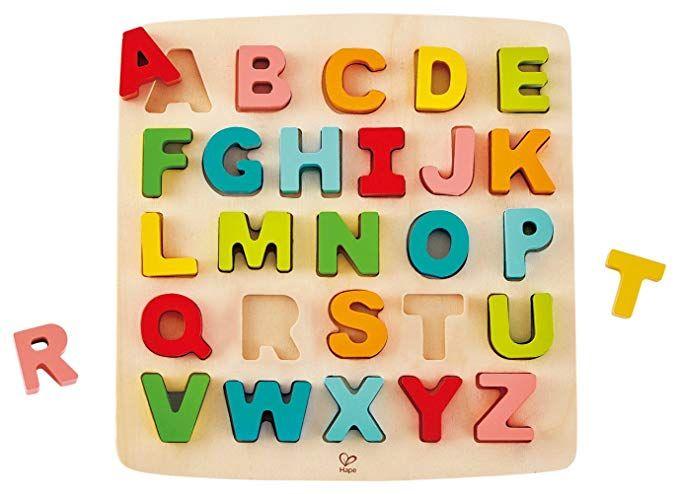 Wooden Fruits Vegetables English Alphabet Blocks Toys Kid Educational Puzzle Toy Baby
