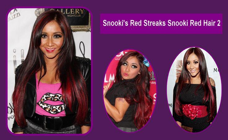 #Snooki's Red Streaks Snooki Red #Hair 2 #Hair #Hairstyles HairCut