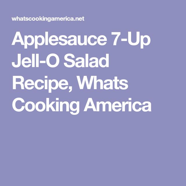 Applesauce 7-Up Jell-O Salad Recipe, Whats Cooking America