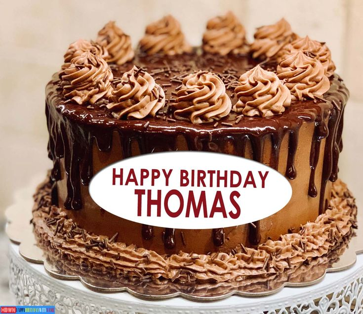 Happy Birthday Thomas Images, Cake & Songs in 2020