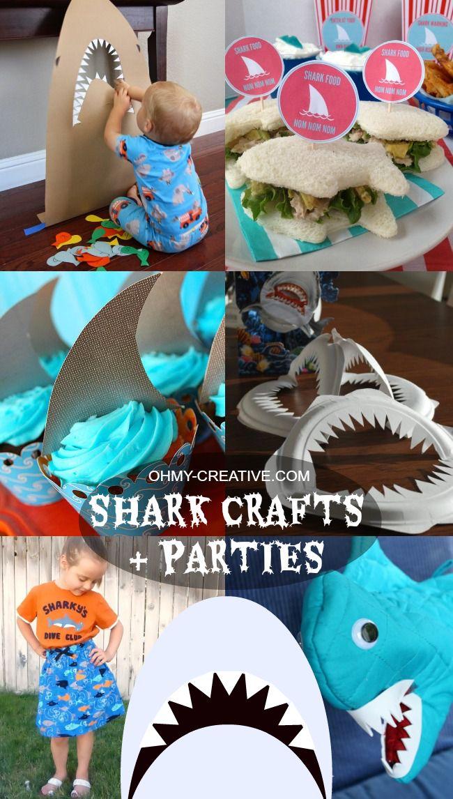 Shark Crafts & Shark Parties | OHMY-CREATIVE.COM