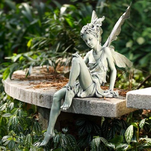Sitting Garden Fairy: Perfect for any stone edges, this garden fairy delights and instils peace wherever she goes.