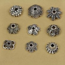 free shipping 100pcs tibetan 66# Small Flower antique silver-plated DIY metal spacer bead flower caps(China (Mainland))