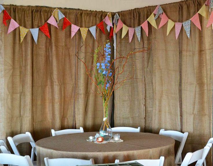 The 25 best Burlap backdrop ideas on Pinterest Hessian wedding