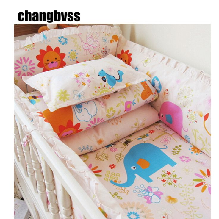 2017 New Cotton Filling Baby Bed Linen In A Cot Set Cartoon Design Boy