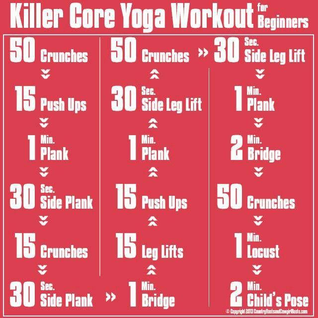 Sweat Wow Killer Kettlebell Workout: Killer Core Yoga Workout For Beginners.