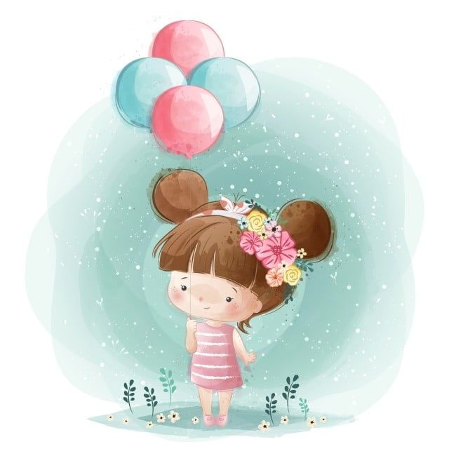 cute little girl holding balloons baby animal cute png and vector with transparent background for free download in 2020 girl holding balloons balloons cute little girls cute little girl holding balloons baby