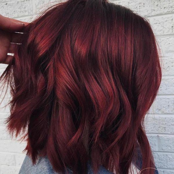 Burgundy Hair Color Ideas Best Hairstyles For Maroon Hair November 2019 Wine Hair Hair Styles Wine Hair Color
