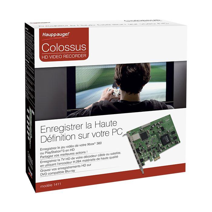 [CATALOGUE GÉNÉRAL 2015] Colossus: Carte interne de capture full HD Format PCI-Express. Entrée vidéo YUV et HDMI. Logiciel Arcsoft Showbiz inclus; Compatible avec toutes sources vidéos HD non HDCP; Compatible tous Windows. RÉF. 01411 http://www.exertisbanquemagnetique.fr/info-marque/hauppauge