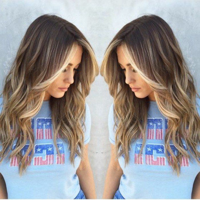 chouette balayage caramel balayage sur cheveux chatain - Dcoloration Cheveux Colors Chatain Fonc