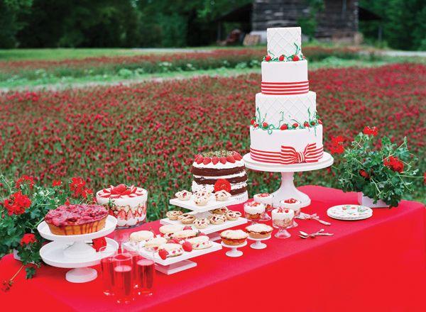 strawberry dessert spread | Katie Stoops #wedding