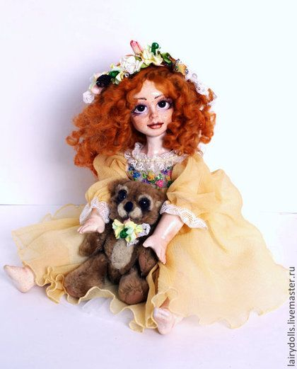 "Музыкальная кукла-фея ""Шептун"" Корица - рыжий,фея,кукла,подарок,музыка"