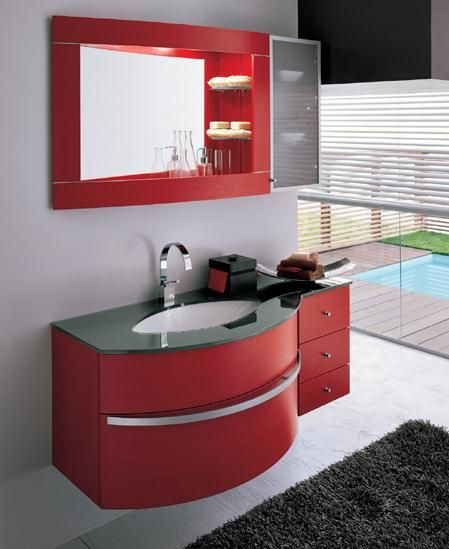 appealing red bathroom vanity cabinet | 1000+ images about PVC Bathroom Vanity cabinet VITUN ...