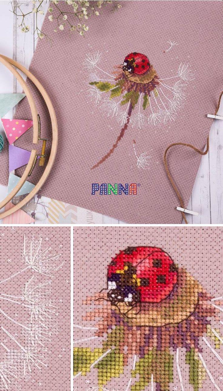 PANNA Cross stitch kit PS-7034 Split Seconds of Summer. Ladybird
